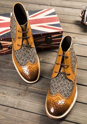 英伦靴子休闲高帮皮鞋